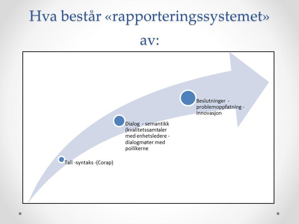 Hva består «rapporteringssystemet» av: