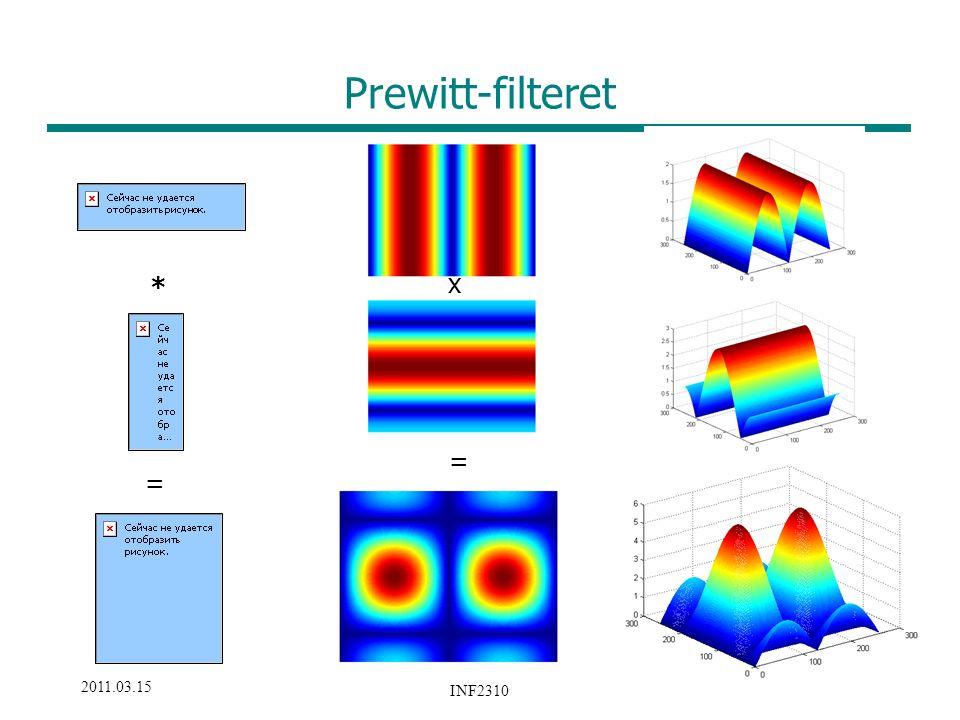 31 /33 2011.03.15 INF2310 Prewitt-filteret * x = =