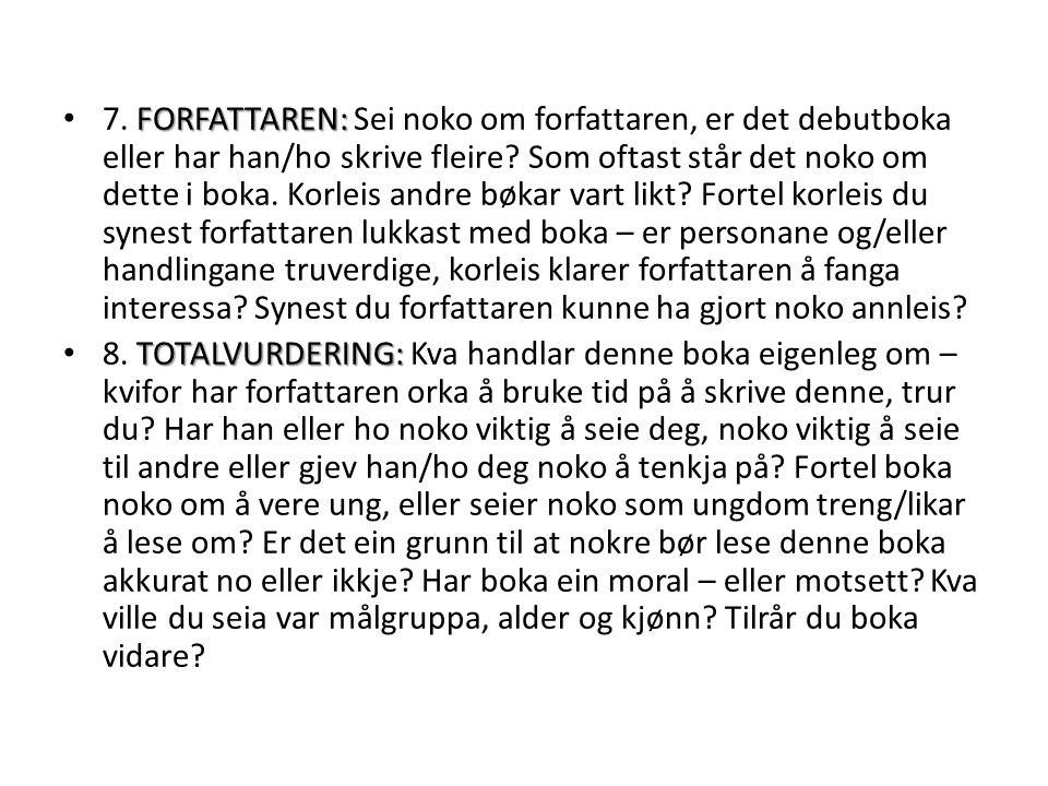 FORFATTAREN: 7.
