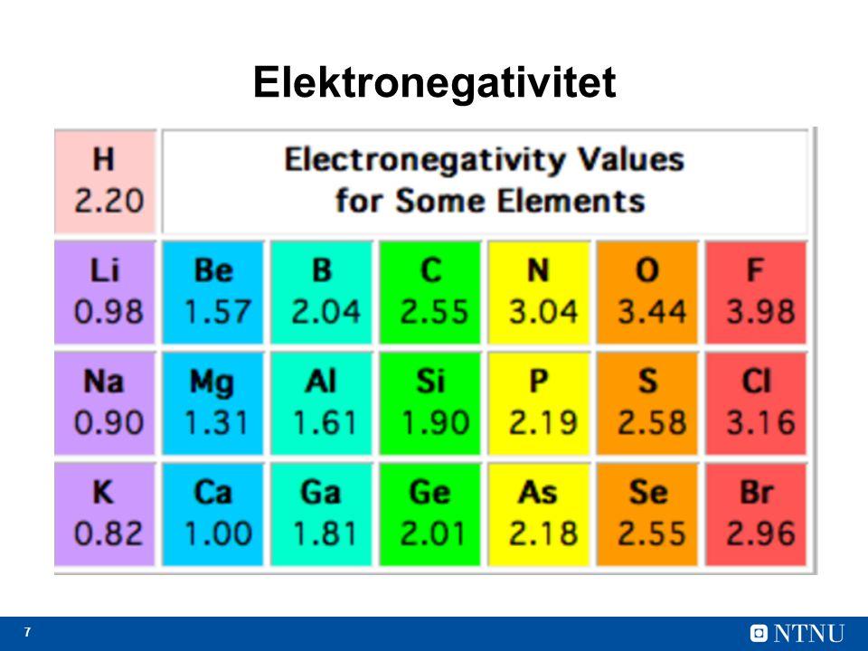 8 Energinivåer og elektrisk ledningsevne Bare noen energinivåer er lovlige