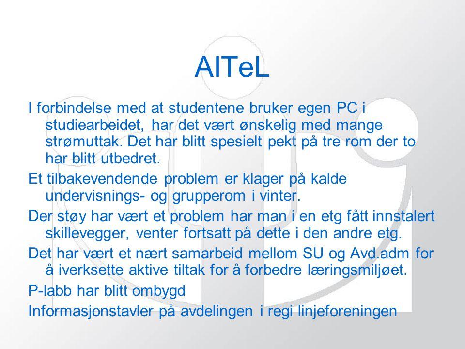 AITeL I forbindelse med at studentene bruker egen PC i studiearbeidet, har det vært ønskelig med mange strømuttak.