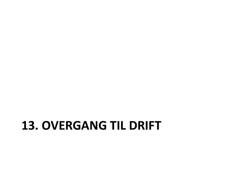 13. OVERGANG TIL DRIFT