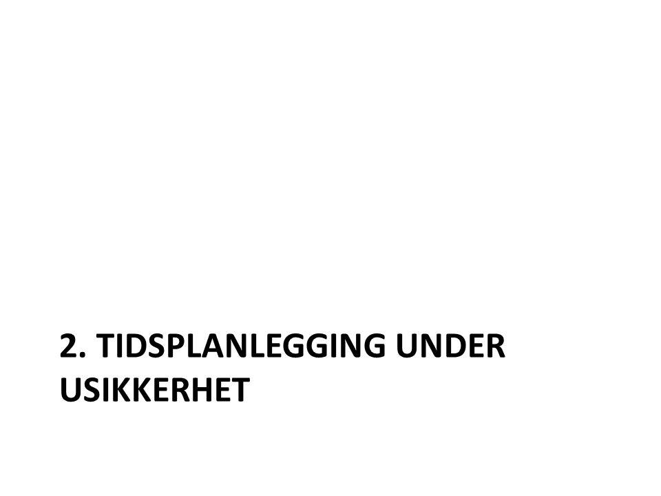 2. TIDSPLANLEGGING UNDER USIKKERHET