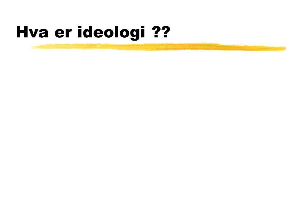 Hva er ideologi ??
