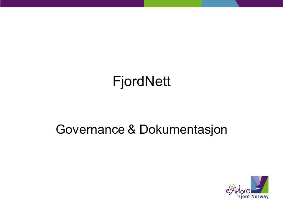 FjordNett Governance & Dokumentasjon