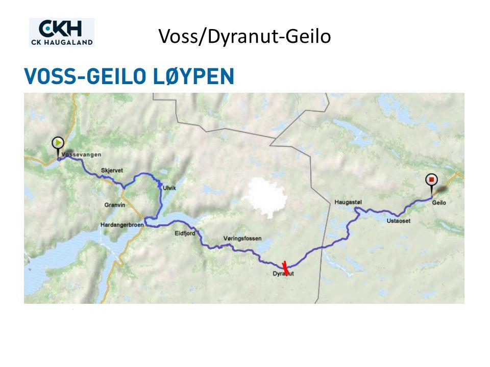 Voss/Dyranut-Geilo 2) Litt om selve rittet – løypekart