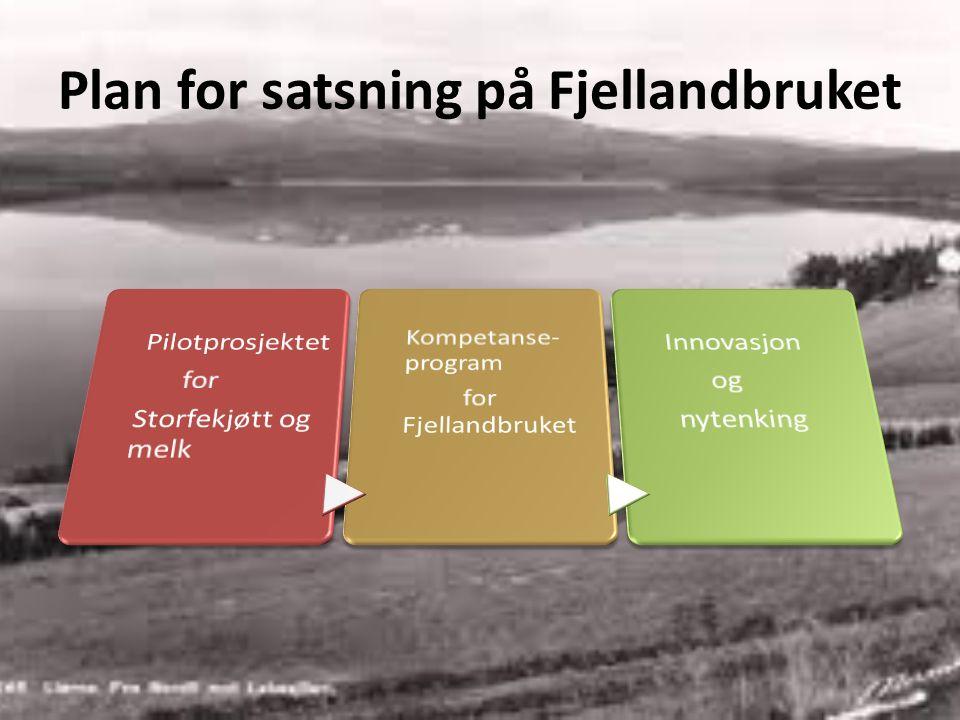 Plan for satsning på Fjellandbruket