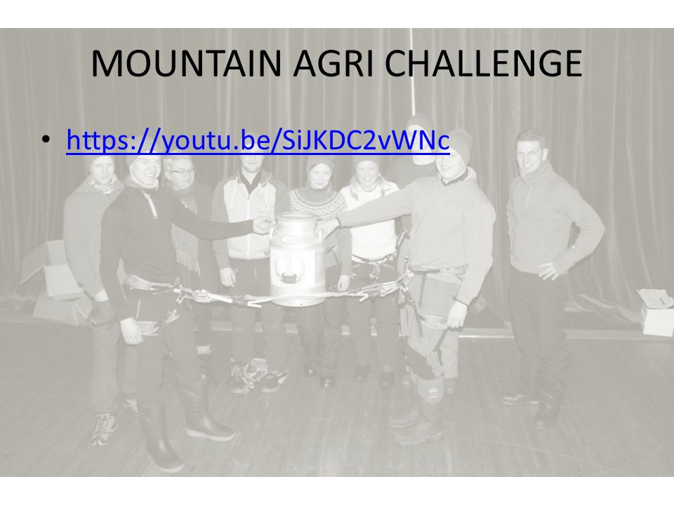 MOUNTAIN AGRI CHALLENGE https://youtu.be/SiJKDC2vWNc