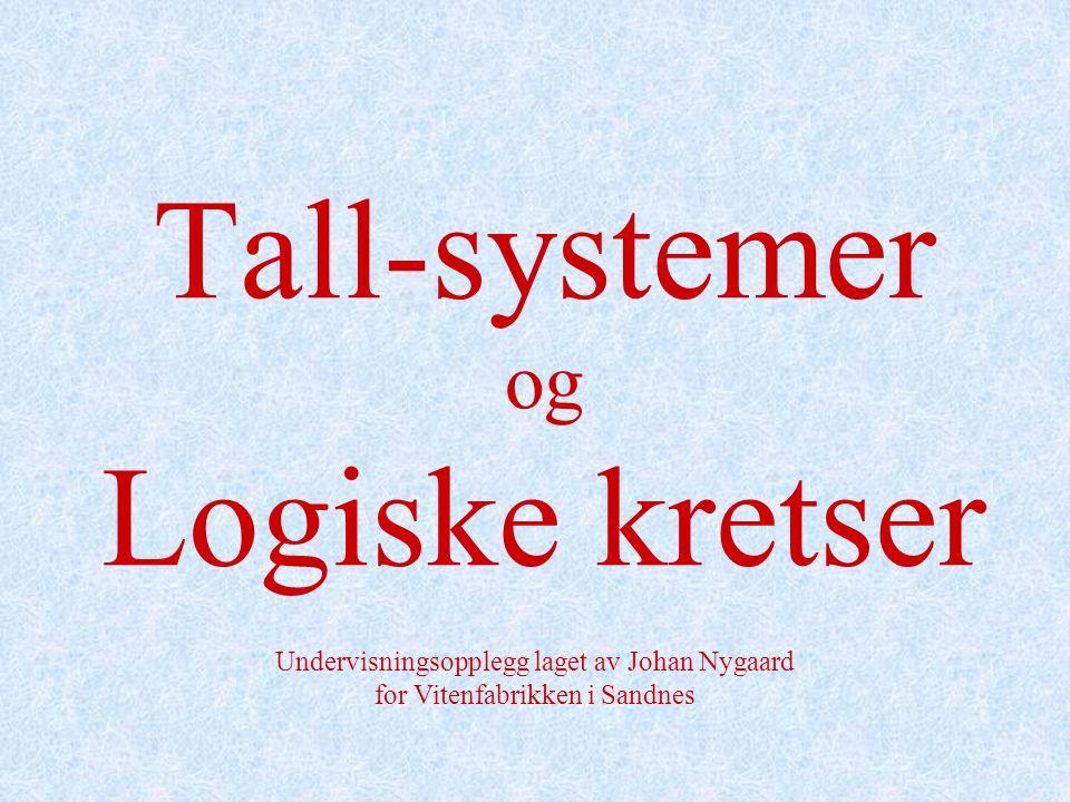 Tall-systemer og Logiske kretser Undervisningsopplegg laget av Johan Nygaard for Vitenfabrikken i Sandnes