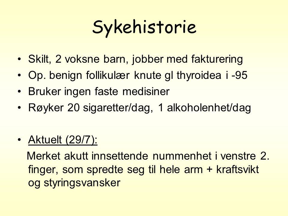 Sykehistorie Skilt, 2 voksne barn, jobber med fakturering Op.