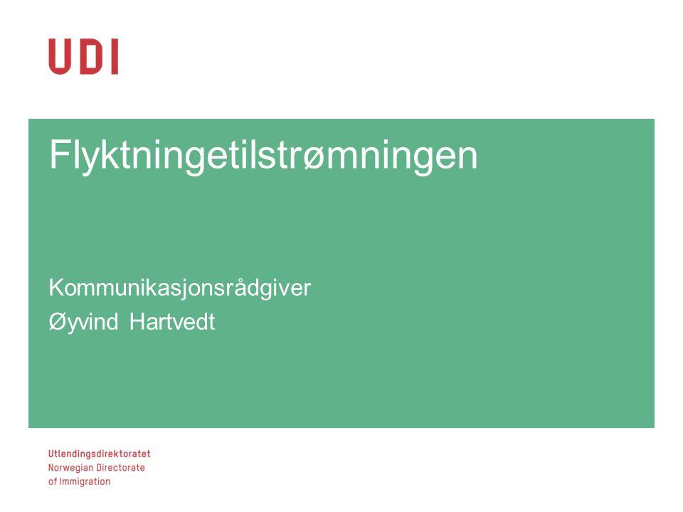 Flyktningetilstrømningen Kommunikasjonsrådgiver Øyvind Hartvedt