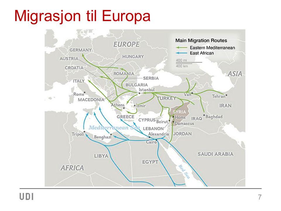 Asylsøknader til Europa (Eurostat) 8