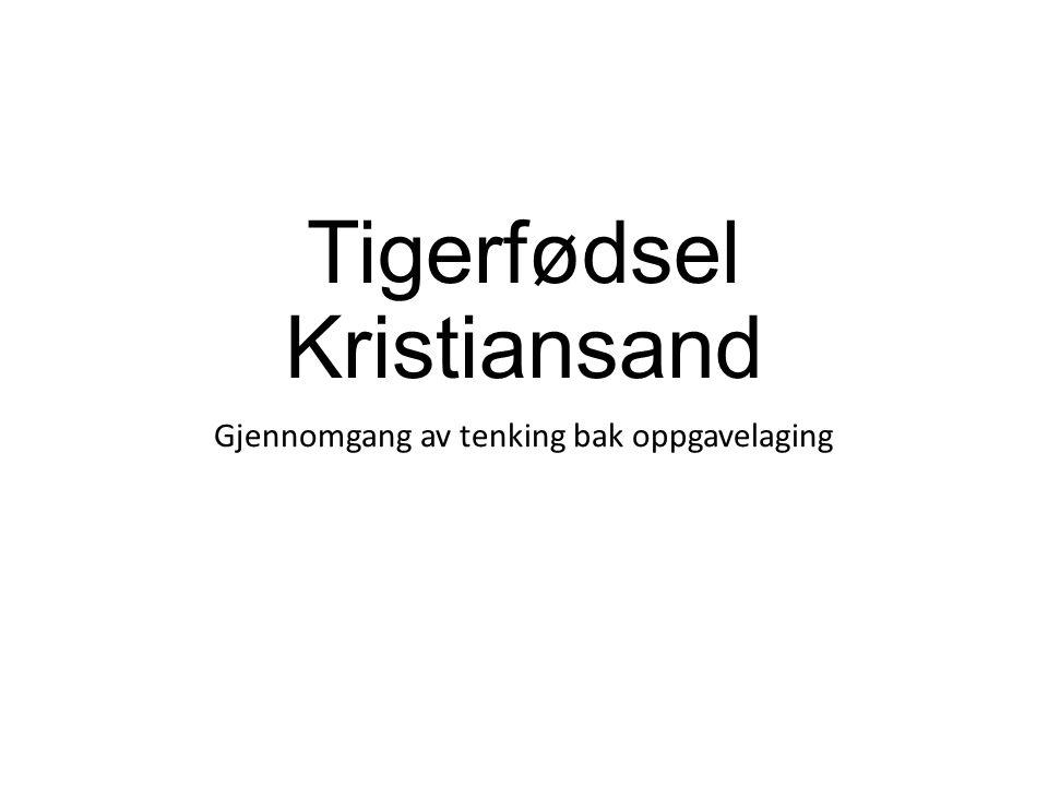 Tigerfødsel Kristiansand Gjennomgang av tenking bak oppgavelaging