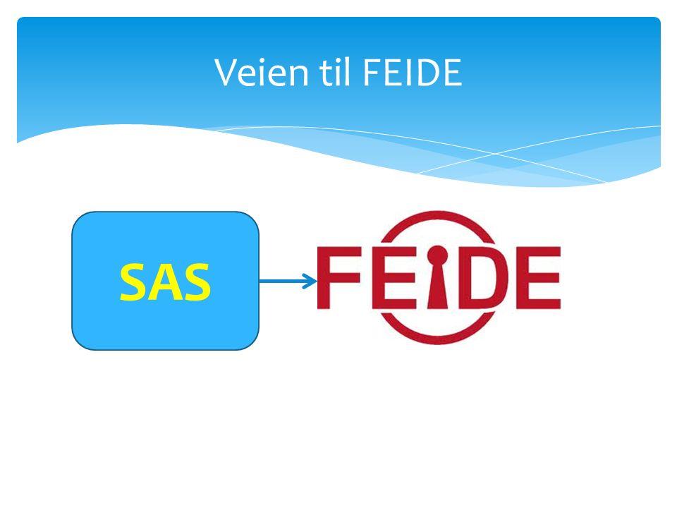 Veien til FEIDE SAS