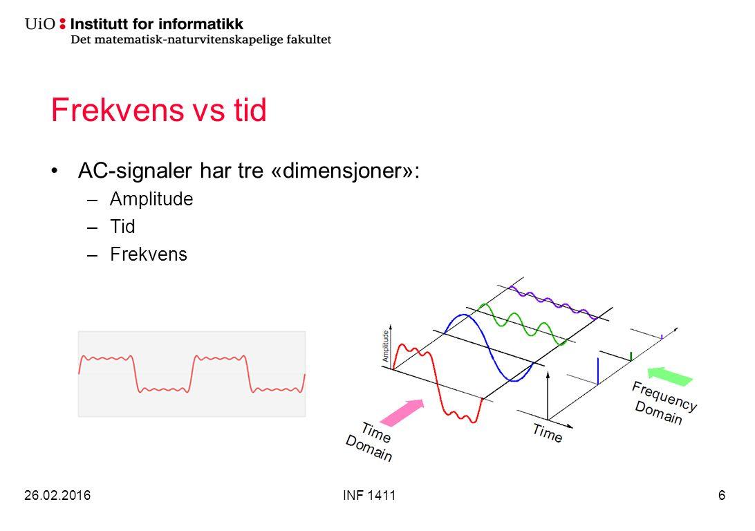 Respons på en firkantpuls 26.02.2016INF 141127 Hvis spenningskilden til RL-kretsen er en firkantpuls vil, strømmen gjennom spolen vekselvis øke og minke eksponensielt: