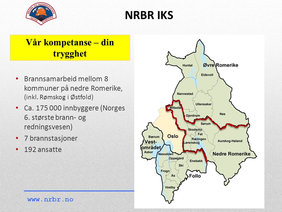 Brannsamarbeid mellom 8 kommuner på nedre Romerike, (inkl.