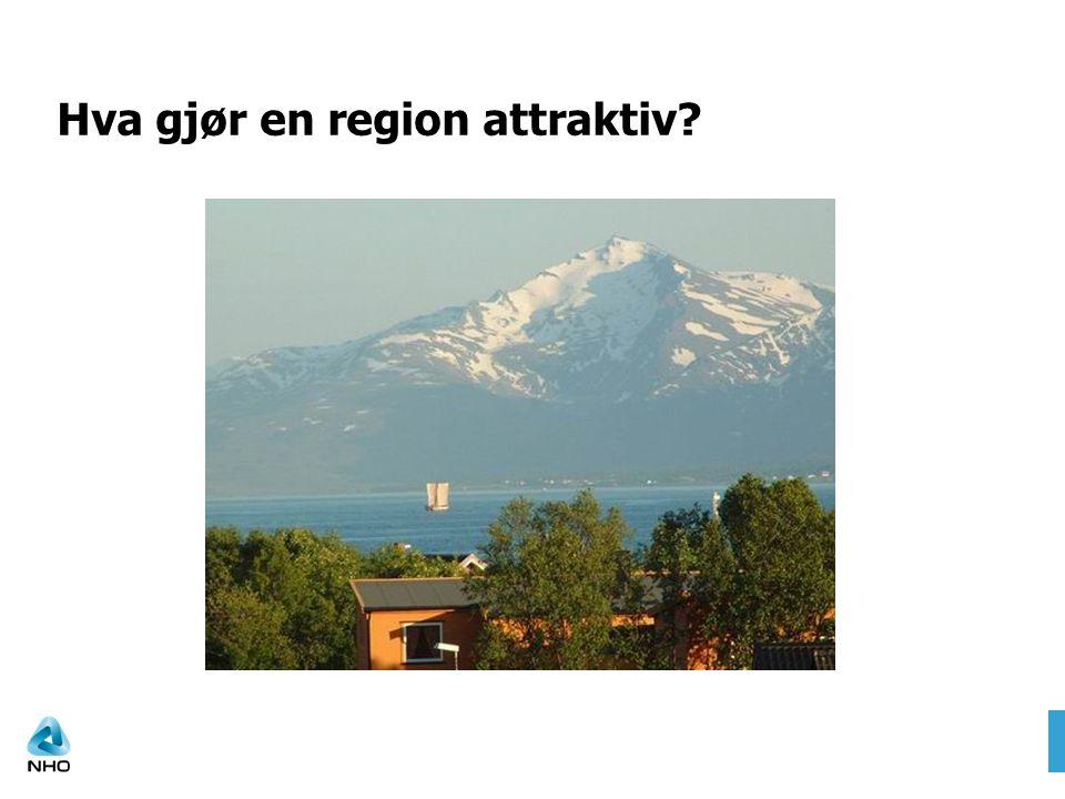 Hva gjør en region attraktiv