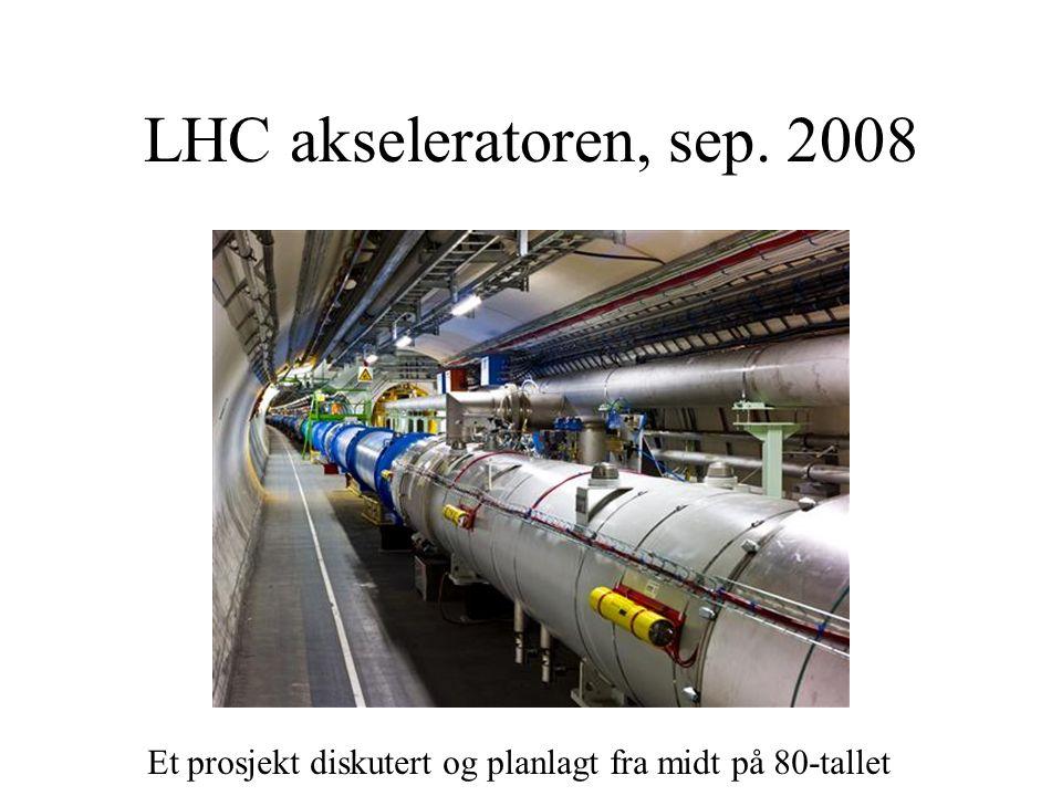 LHC akseleratoren, sep. 2008 Et prosjekt diskutert og planlagt fra midt på 80-tallet