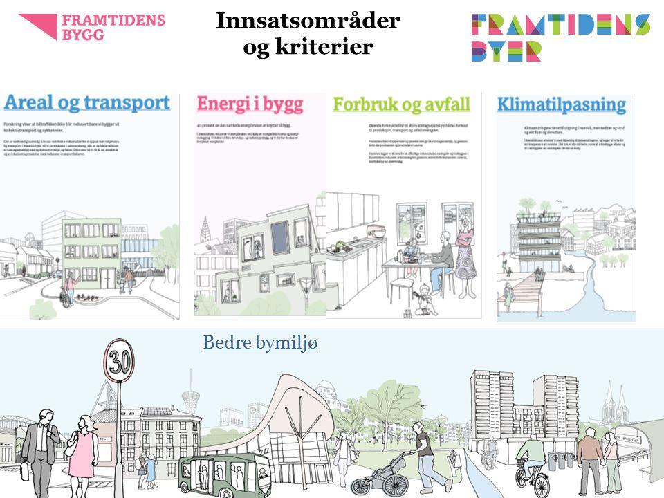 Innsatsområder og kriterier framtidensbyer.no5 Bedre bymiljø