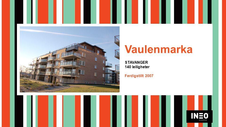 Vaulenmarka STAVANGER 140 leiligheter Ferdigstillt 2007
