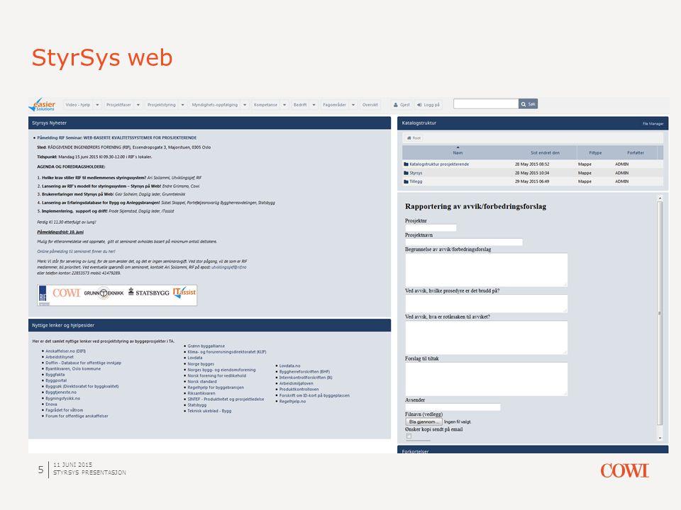 StyrSys web 11 JUNI 2015 STYRSYS PRESENTASJON 5