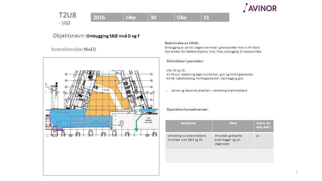 Bilde av område (Helst med en markering av området som berøres) Aktiviteter i perioden: Uke 30 og 31: 41-44 syd: etablering lager/wc/kontor, gulv og h