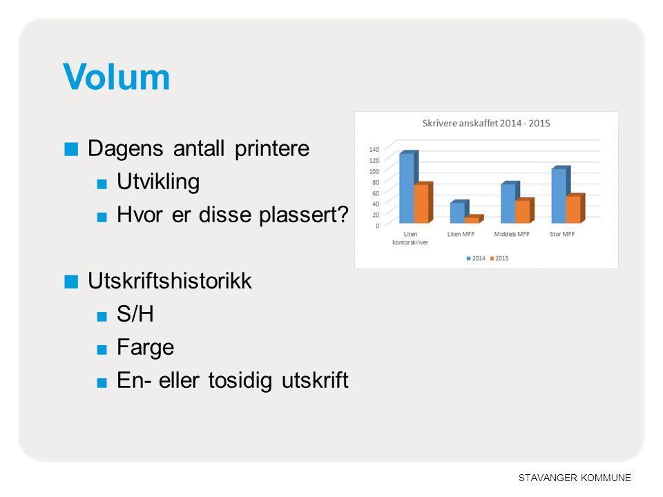 STAVANGER KOMMUNE Hvilke produkter ■ Dagens produktmatrise ■ Multifunksjonsskrivere vs.