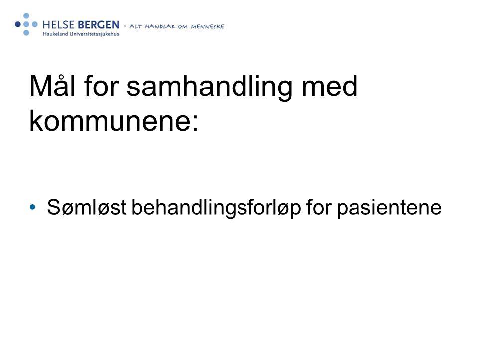 Mål for samhandling med kommunene: Sømløst behandlingsforløp for pasientene