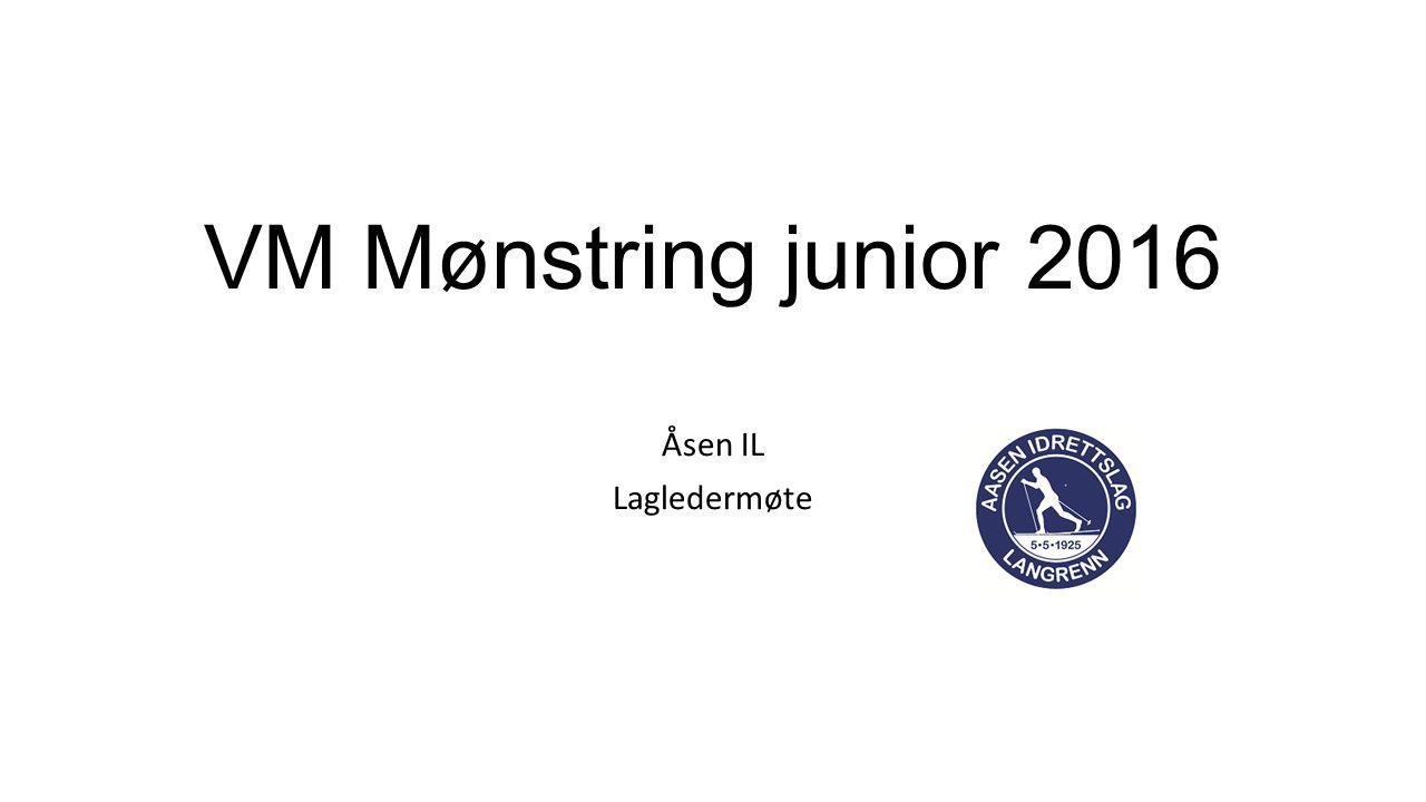 VM Mønstring junior 2016 Åsen IL Lagledermøte