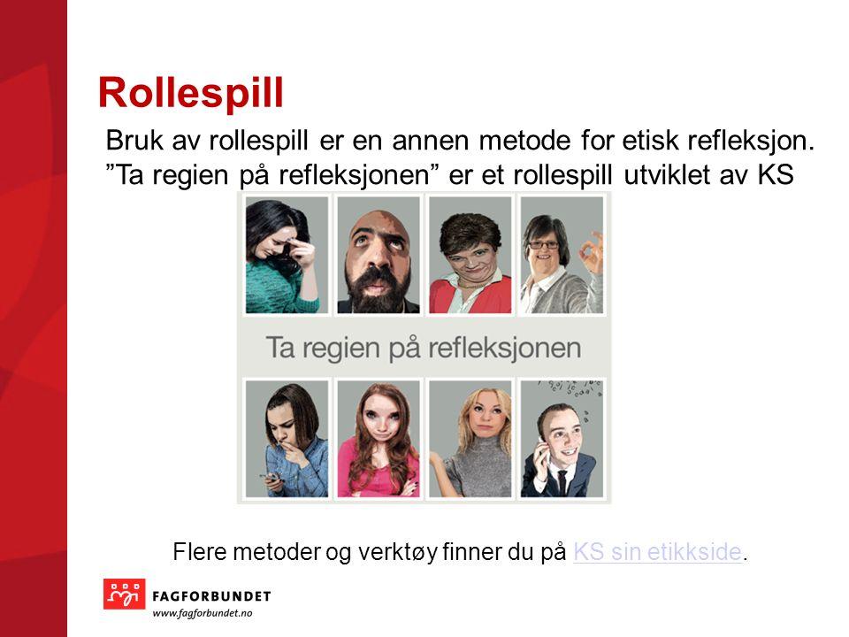 Rollespill Bruk av rollespill er en annen metode for etisk refleksjon.