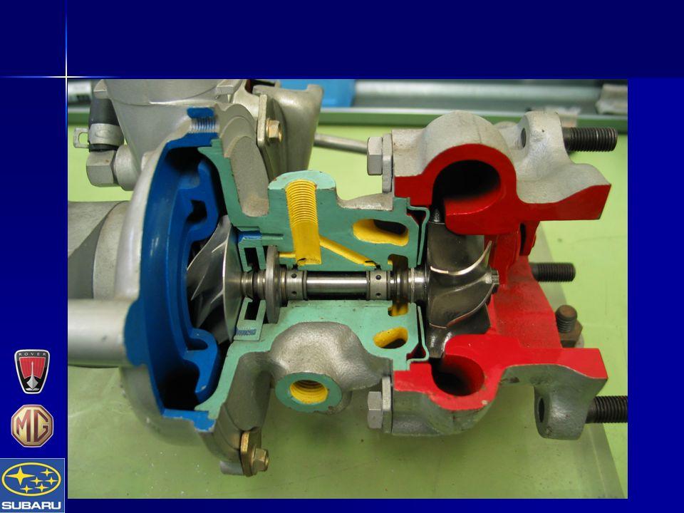  Exhaust gas drives turbine  Compressor pressurises inlet air Turboens virkemåte