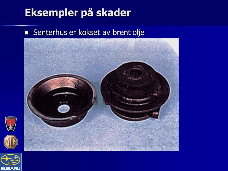 Eksempler på skader Senterhus er kokset av brent olje Senterhus er kokset av brent olje