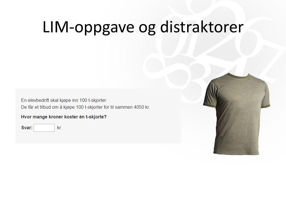 LIM-oppgave og distraktorer