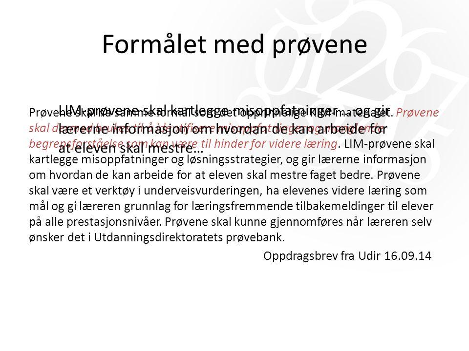 Progresjonsplan for LIM