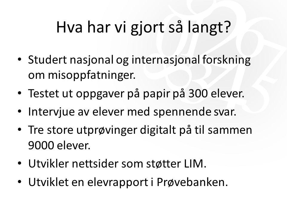 Inngangsportaler til LIM Prøvebanken Rapport og prøveresultat Læreren Matematikk senteret.no Undervisnings- opplegg Interaktivt og PDF