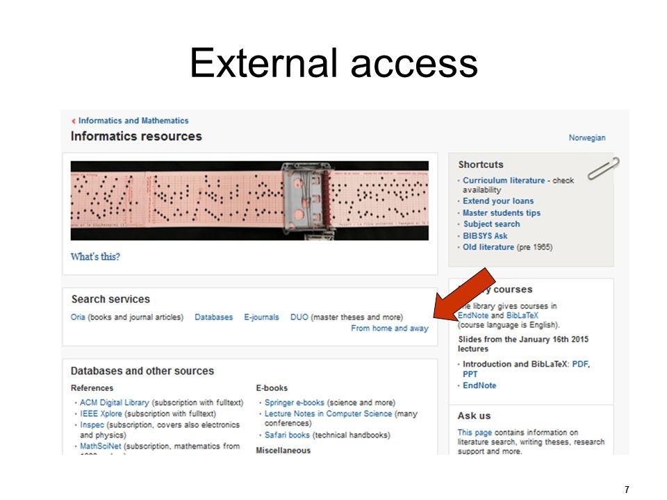 External access 7