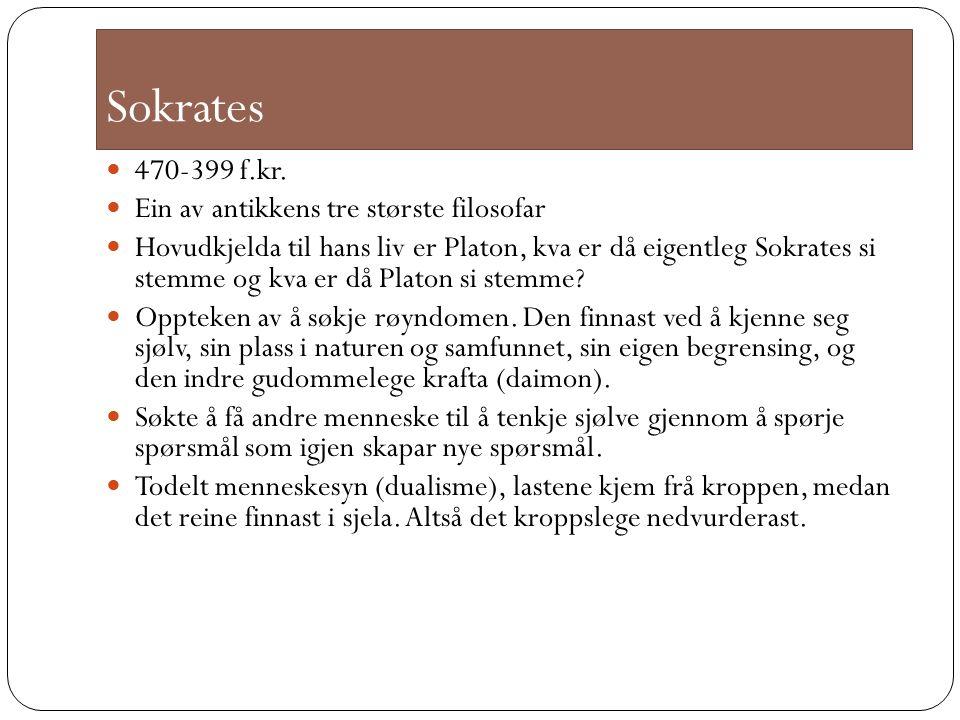 Sokrates 470-399 f.kr.
