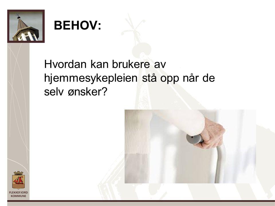 BEHOV: Hvordan kan brukere av hjemmesykepleien stå opp når de selv ønsker