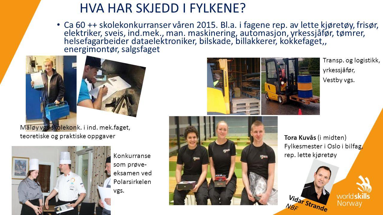 HVA HAR SKJEDD I FYLKENE. Ca 60 ++ skolekonkurranser våren 2015.