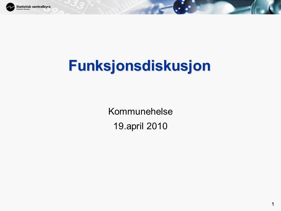 1 1 Funksjonsdiskusjon Kommunehelse 19.april 2010