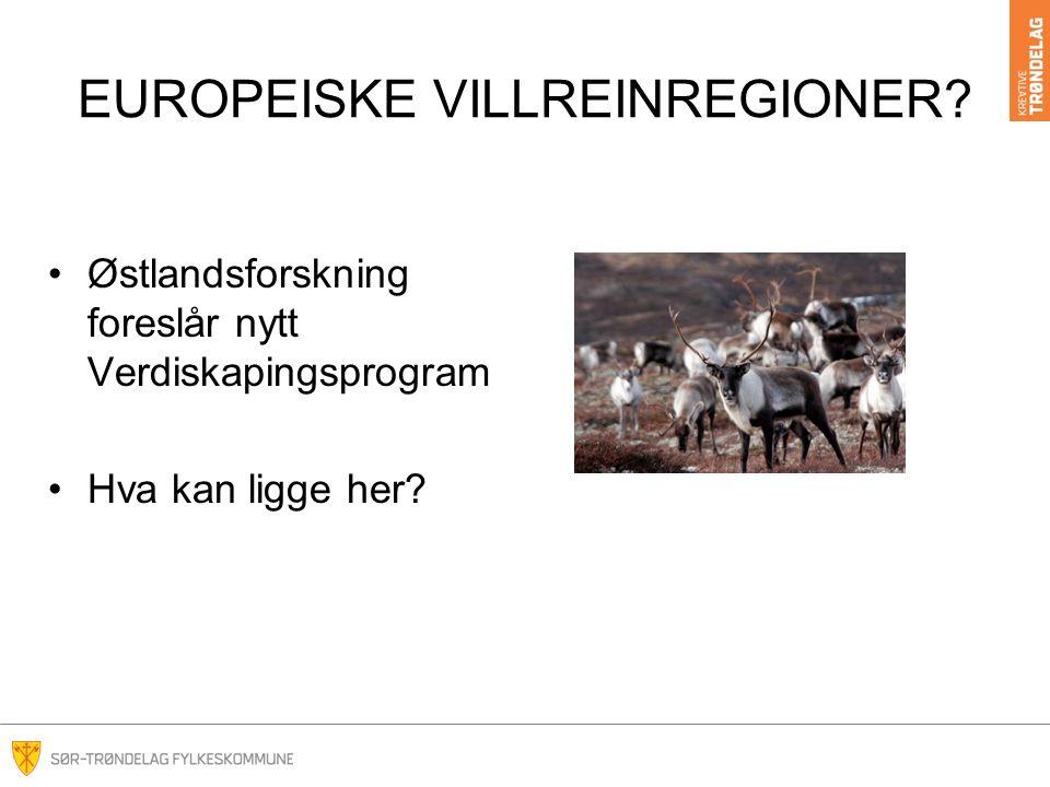 EUROPEISKE VILLREINREGIONER.