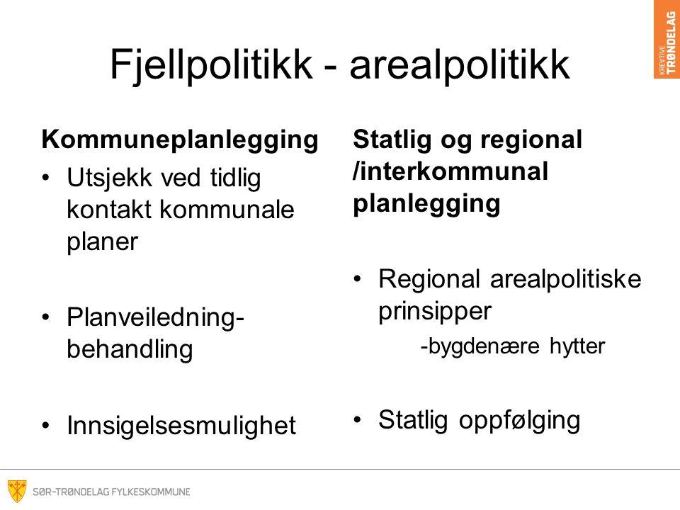 Fjellpolitikk – handling Rammeprogram i regional plan: Kommunale tiltak Årskonferanse -dialog Kunnskapsbasert forvaltning Informasjon, tilrettelegging og kunnskapsformidling