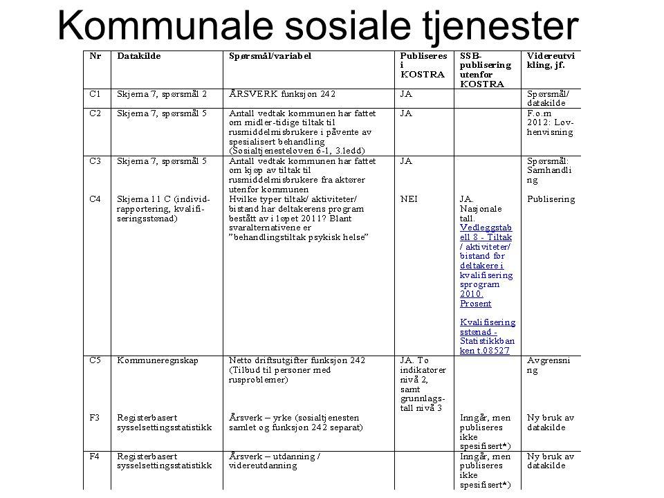 Kommunale sosiale tjenester