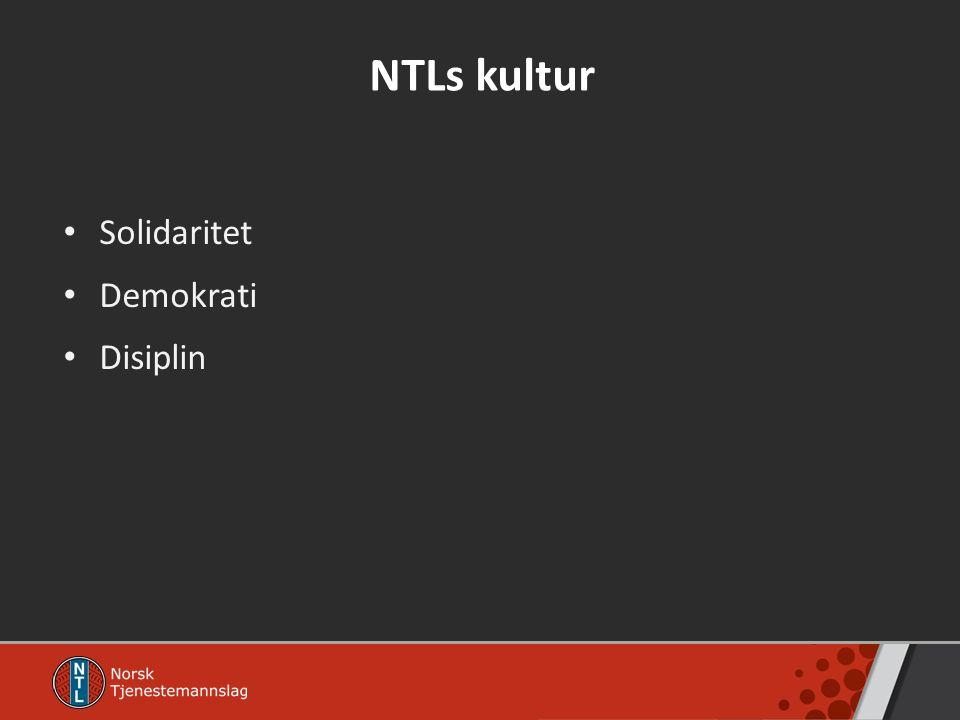 NTLs kultur Solidaritet Demokrati Disiplin