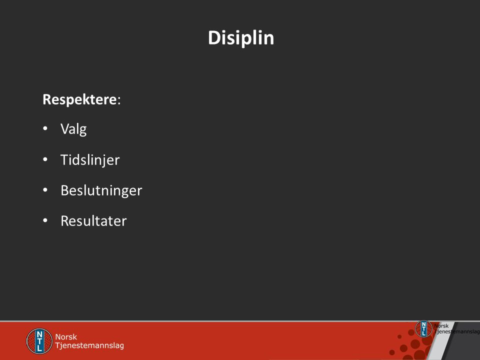 Disiplin Respektere: Valg Tidslinjer Beslutninger Resultater