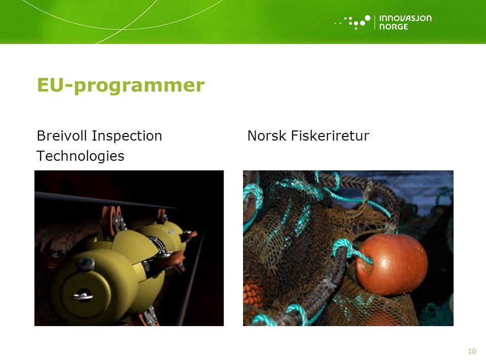 EU-programmer Breivoll Inspection Technologies Norsk Fiskeriretur 10