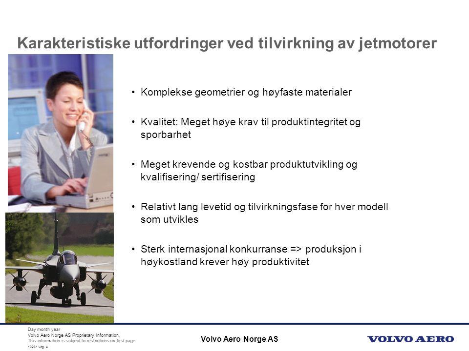 10110 Utg.4 Volvo Aero Norge AS Proprietary Information.