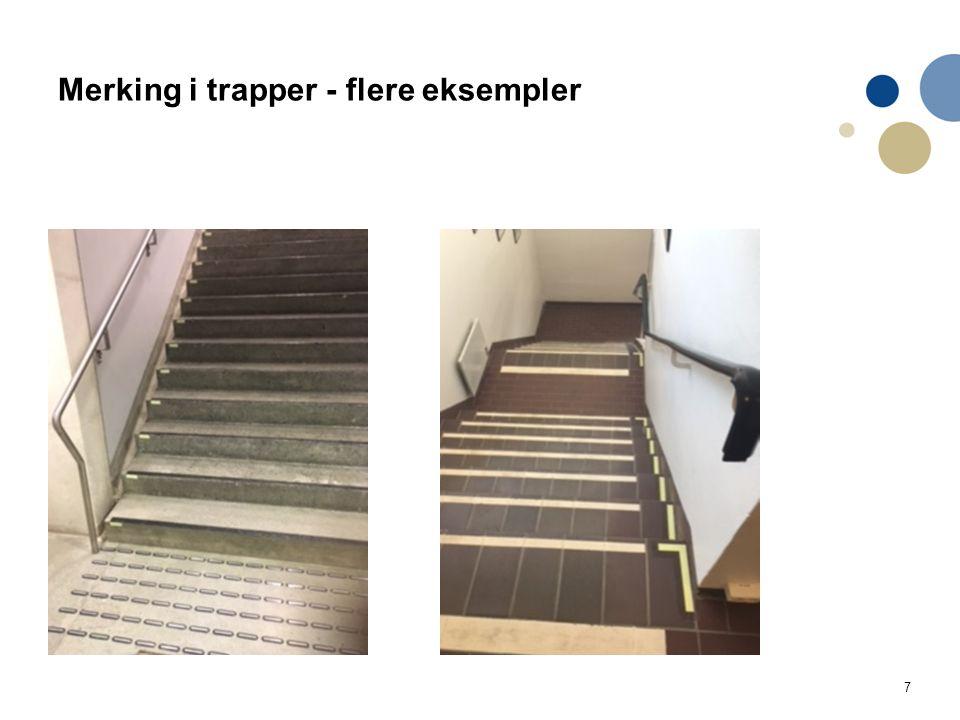 7 Merking i trapper - flere eksempler