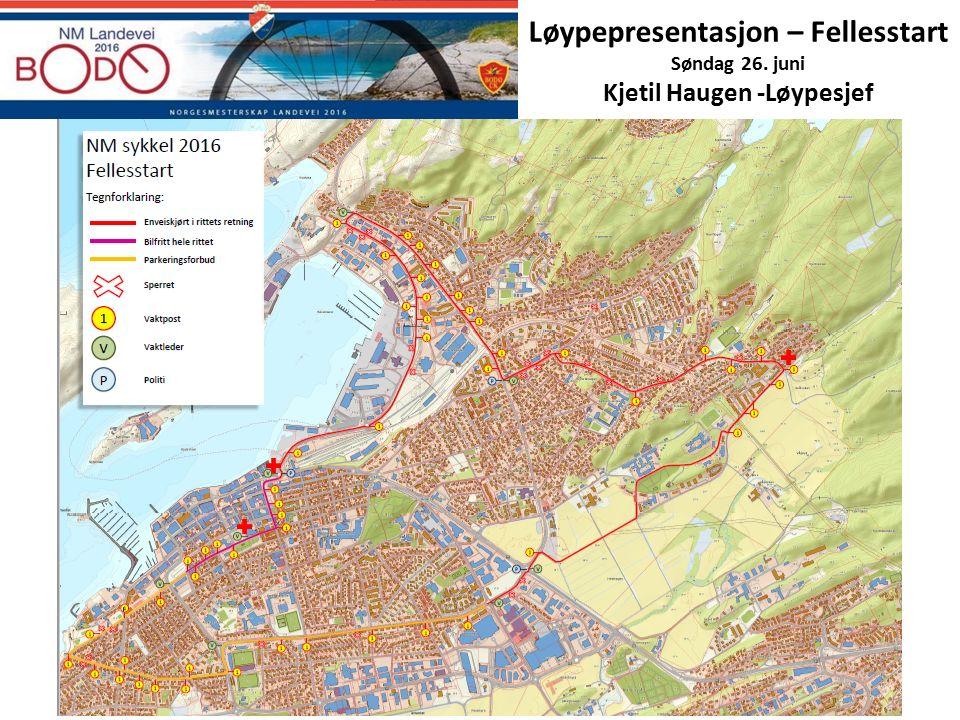 Løypepresentasjon – Fellesstart Søndag 26. juni Kjetil Haugen -Løypesjef