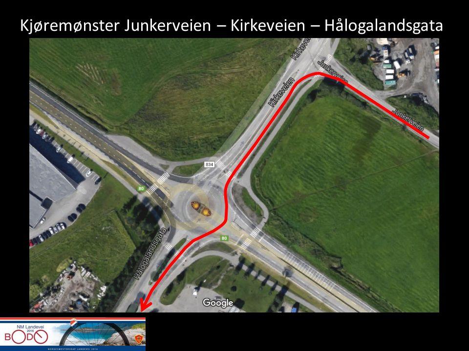 Kjøremønster Junkerveien – Kirkeveien – Hålogalandsgata
